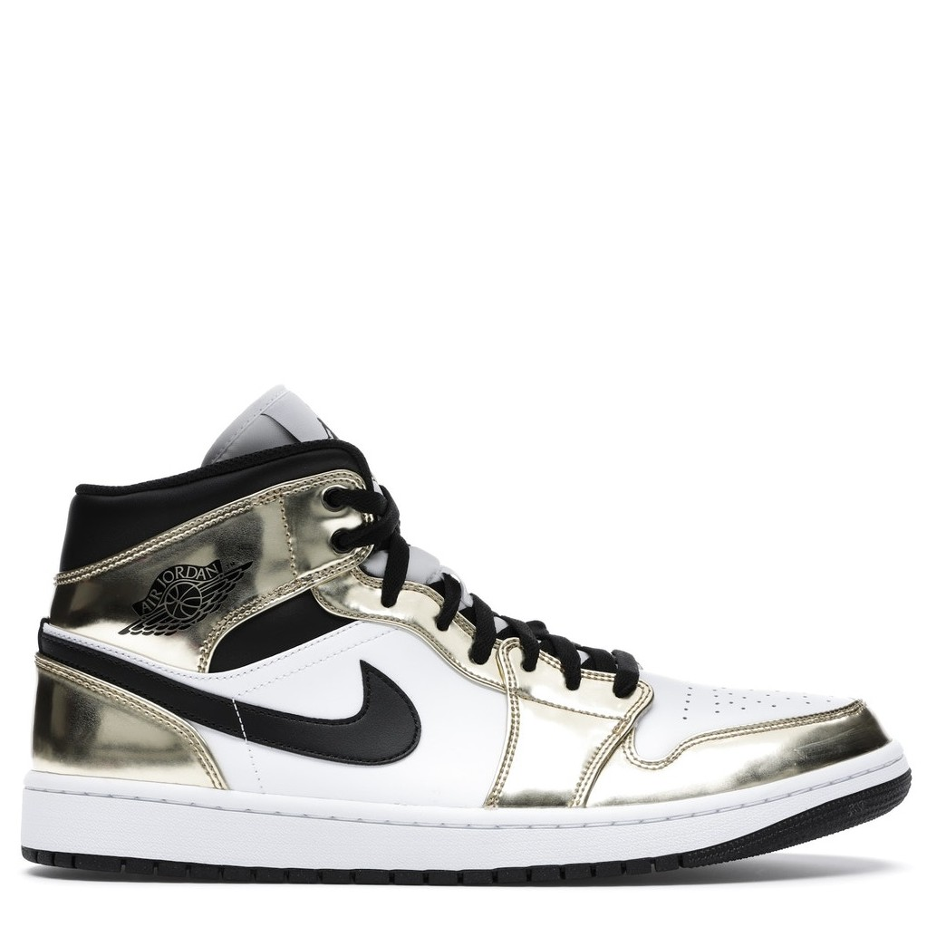 Rent Jordan 1 Mid Metallic Gold Black White sneaker