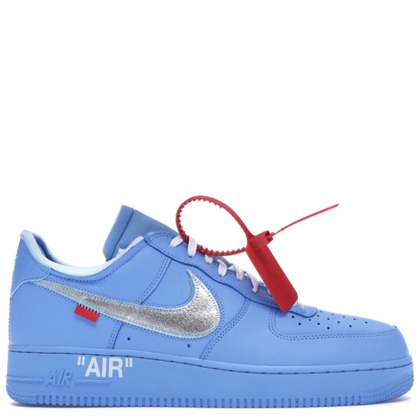 Rent Nike Air Force 1 Low Off-White MCA University Blue sneaker